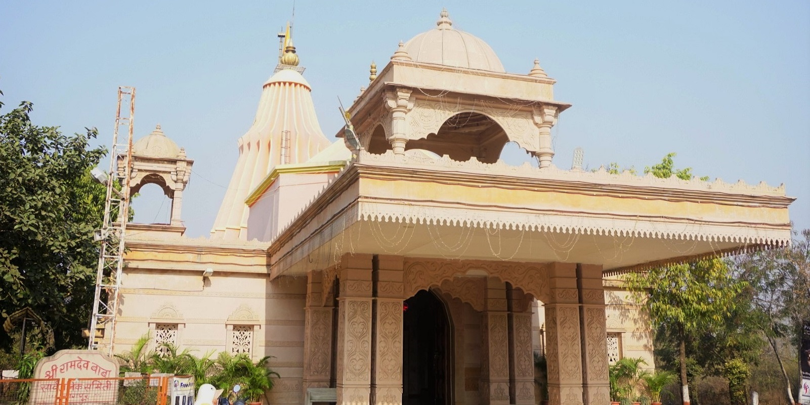 Temple of Shri Ramdeojibaba, a local folk deity of Rajasthan, India. He was a saint of the fifteenth century who devoted all his life for the upliftment of the downtrodden.